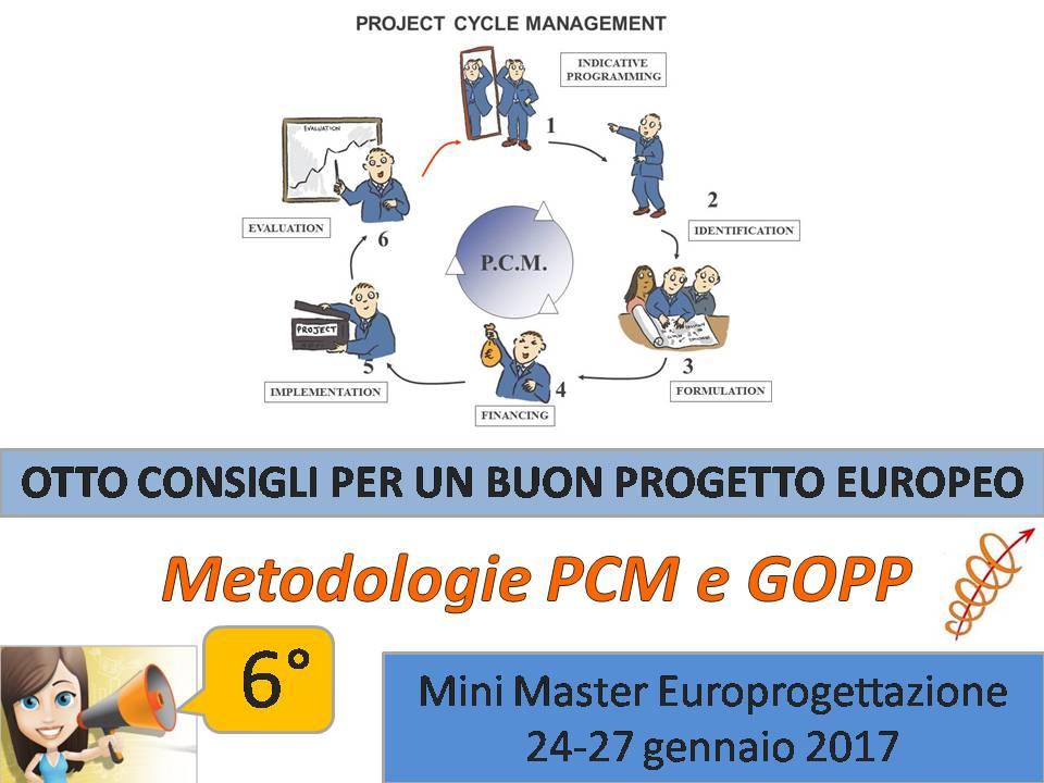Sesto appuntamento: Conoscere le metodologie PCM e GOPP